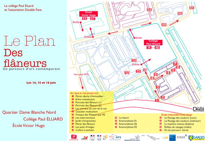 """Plan """"Les Flâneurs"""""""