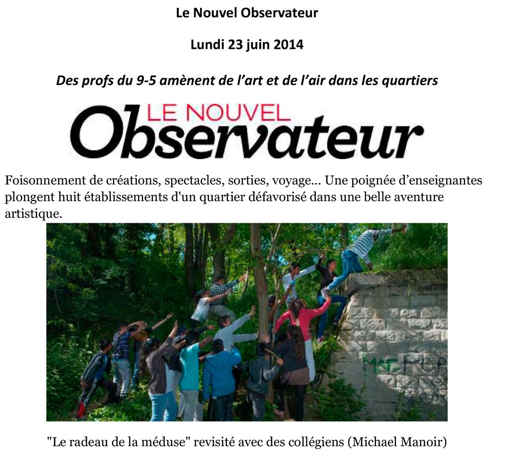 Article paru dans Le Nouvel Observateur